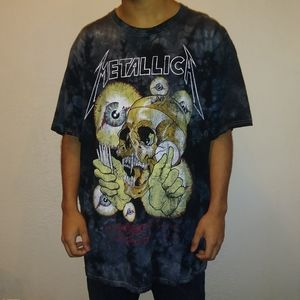 Metallic Tye-Dye Rock Band Tee Shirt